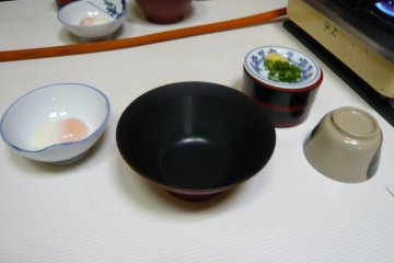 Waiting to be filled with homemade udon