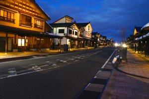 Đường phố Bokushi lên đèn