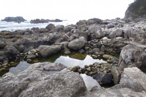 The rock pools that form the baths