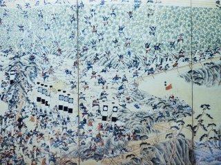 """Sebuah lukisan """"Pemberontakan Shimabara"""" abad ke-17"""