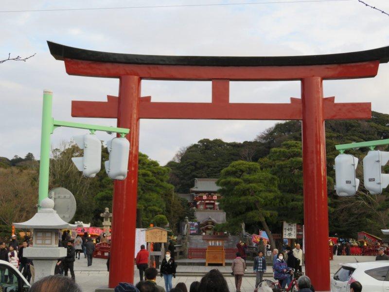 Entrance to Tsuroka Hachimangu Shrine