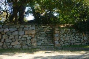 Yoshida Castle walls provide a good idea of the fortresses defenses and size