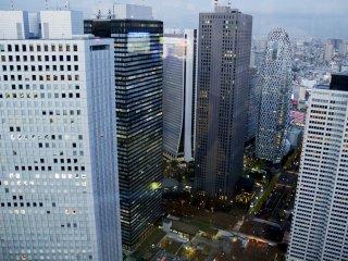 摩天楼エリアの見事な眺め