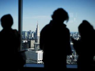 多くの観光客が眺望を満喫