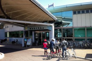 Renting bicycles at Sunrise Itoyama