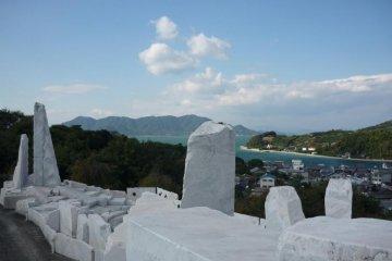 View of Setoda and the Seto Inland Sea from Miraishin no Oka at the Kosanji Temple