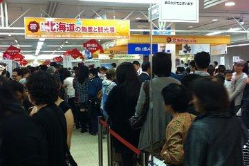 Crowds at the Hokkaido Fair