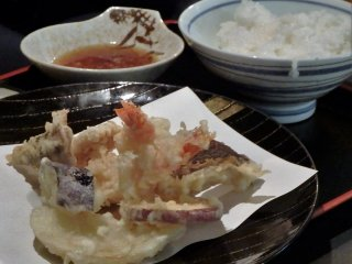 Tempura is another favorite at Tensui