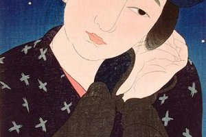 Girl of Oshima from the Twelve Styles of New Beauty series is a stunning example of Shin Hanga, delicate, romantic and dreamy