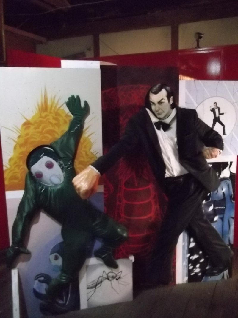 <p>Pow! Put your face in the picture as Bond thumps a villain</p>