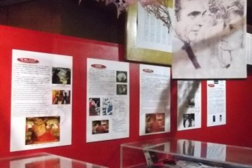 <p>Some of the Bond paraphernalia on display</p>