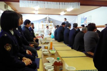Government officials receive a special blessing