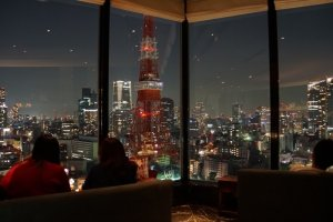 A romantic dinner with a view at Sky Lounge Stellar Garden in Tokyo.
