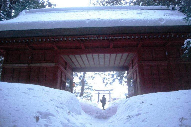 Núi Haguro vào mùa đông