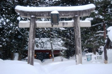 Pass through the gate and you enter the sacred grounds of Mount Haguro