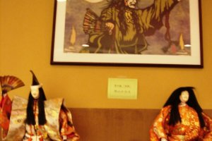 Paintings and Noh dolls at Kurokawa Noh Museum