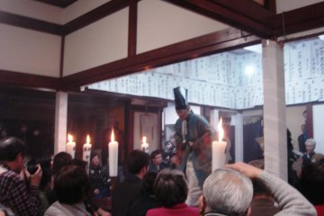 The next player comes on stage, announcing the start of another Noh piece