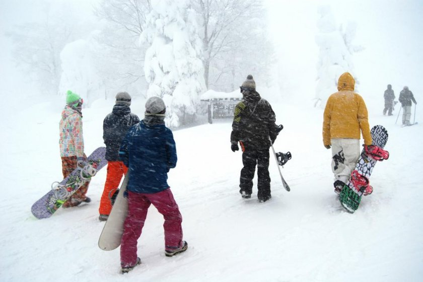 Zao Ski Resort is not just for skiing but it is also snow boarders\' paradise