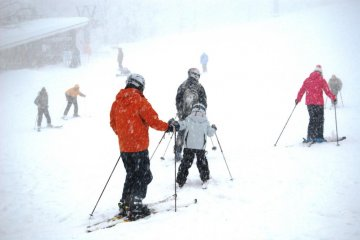 Family fun at the lower slopes of Zao Ski Resort