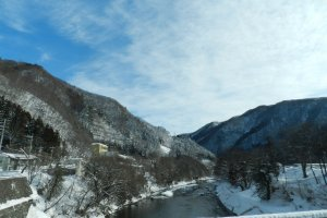 Minakami blue skies