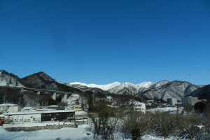Snow-capped mountains of Gunma