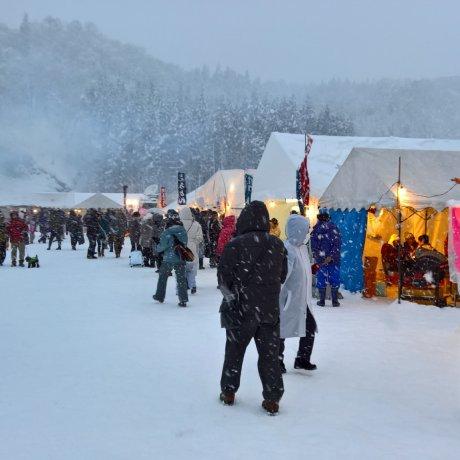 Lễ hội đèn trời ở Senboku