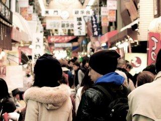 Salah satu tempat perbelanjaan terpanjang di Osaka.