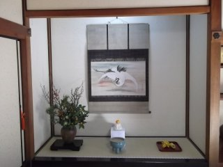 An alcove in one of the temple rooms