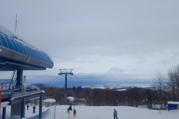 View from the top of the gondola.