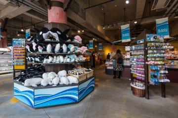 The gift shop at Kamogawa Sea World