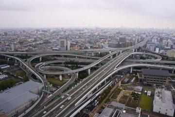 Higashi-Osaka Junction in the daytime