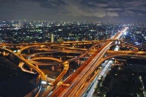 東大阪ジャンクションの夜景