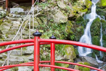 Head up the waterfall to the cave's entrance