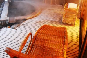 A very relaxing onsen right by your room, hop in and out, and back in.
