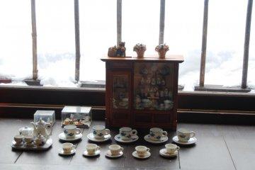 Decoration in Orizuru restaurant
