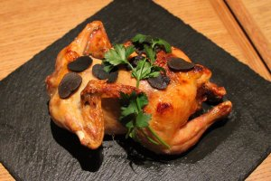 Grilled Young Chicken with Truffle Rice