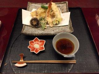 Le plat de tempura