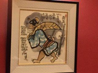 Quelques tableaux décorent le restaurant