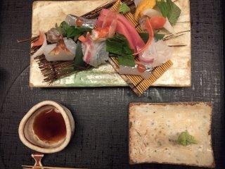 Le plateau de sashimi