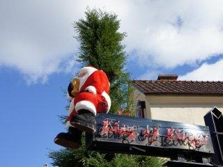 Santa Claus enjoying his beer?