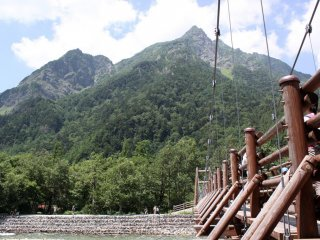 One of a few suspension bridges – provide a great view of the scenery!
