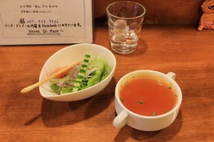 Soup and salad starter
