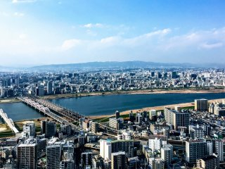 A breathtaking view over the Yodo River