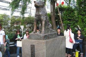 รูปปั้นสุนัขฮาจิโกะอันเลื่องชื่อ
