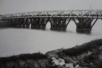500-meter long bridge over the Tamagawa River