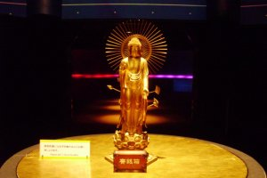 Gold Buddha on the first floor: Infinite Light and Infinite Life
