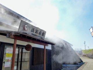 Rice steaming in progress