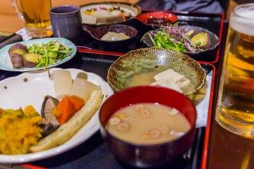 Bansho-no-yu has a large buffet