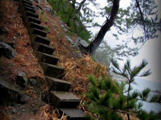 Một con đường mòn đi bộ nhỏ hướng về phía bắc dẫn thẳng tới bờ biển