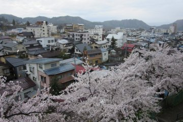 Вид на городок-онсен
